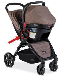 Britax B-Agile 4 stroller in travel system mode